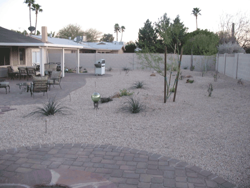 Picture of a barbecue project for mesa landscaping